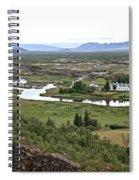 Thingvellir Valley Spiral Notebook