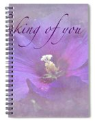 Thinking Of You Greeting Card - Rose Of Sharon Spiral Notebook