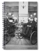 Thomas Edison In Quadricycle Spiral Notebook
