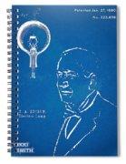 Thomas Edison Lightbulb Patent Artwork Spiral Notebook
