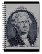 Thomas Jefferson 2 Dollar Bill Portrait Spiral Notebook