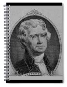 Thomas Jefferson In Black And White Spiral Notebook