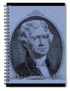 Thomas Jefferson In Cyan Spiral Notebook