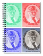 Thomas Jefferson In Negative Colors Spiral Notebook