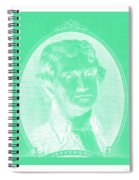 Thomas Jefferson In Negative Green Spiral Notebook