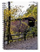Thomas Mill Covered Bridge Over The Wissahickon Spiral Notebook