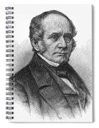 Thomas O. Larkin (1802-1858). American Merchant And California Pioneer. Wood Engraving, 19th Century Spiral Notebook