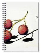 Three Cherries Spiral Notebook