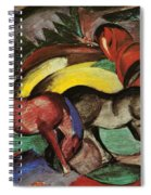 Three Horses Spiral Notebook