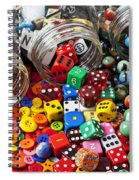 Three Jars Of Buttons Dice And Marbles Spiral Notebook