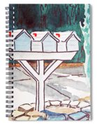 Three Mailboxes Sketchbook Project Down My Street Spiral Notebook