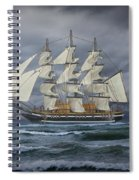 Three Masted Ship Spiral Notebook