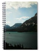 Three Mountains On Many Glacier Lake Spiral Notebook