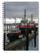Three Red Tugs Spiral Notebook