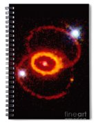 Three Rings Of Glowing Gas - Supernova Spiral Notebook