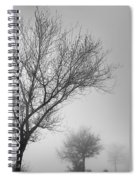 Three Silhouettes In The Rain Spiral Notebook