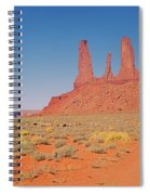 Three Sisters And Grazing Sheep Spiral Notebook