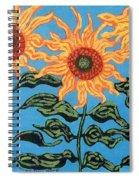 Three Sunflowers IIi Spiral Notebook