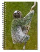 Three-toed Sloth Climbing Spiral Notebook