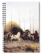 Threshing Wheat In New Mexico Spiral Notebook