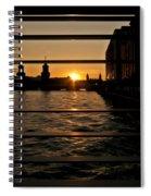 Through The Rails Spiral Notebook