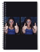 Thumbs Up - Gently Cross Your Eyes And Focus On The Middle Image Spiral Notebook