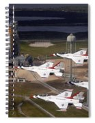 Thunderbirds Fly Past Endeavour Spiral Notebook