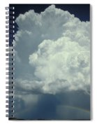 Thunderclouds And Rinbow Spiral Notebook