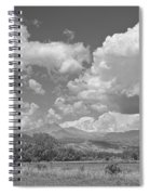 Thunderstorm Clouds Boiling Over The Colorado Rocky Mountains Bw Spiral Notebook