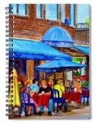 Ti Amo Restaurant Prince Arthur Street Montreal Spiral Notebook