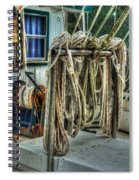 Tied Up Lines Spiral Notebook