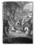 Tiger Hunt, 19th Century Spiral Notebook