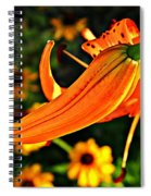 Tiger Lily Bud And Bloom Spiral Notebook