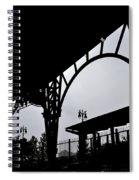 Tiger Stadium Silhouette Spiral Notebook