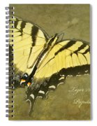 Tiger Swallowtail Butterfly - Papilio Glaucas Spiral Notebook
