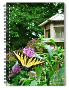 Tiger Swallowtail By The Bird Feeder  Spiral Notebook