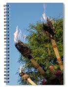Tiki Torch Spiral Notebook