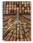 Tile Roof In Croatia Spiral Notebook