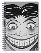 Tillie The Clown Of Coney Island In Black And White Spiral Notebook