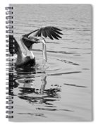 Time For Sushi In Black And White Spiral Notebook
