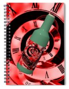 Time In A Bottle Red Spiral Notebook