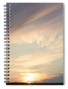 Time-lapse Clouds At Sunset Spiral Notebook