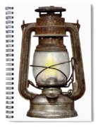 Time Worn Kerosene Lamp Spiral Notebook