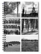 Timeless Brabant Collage - Black And White Spiral Notebook