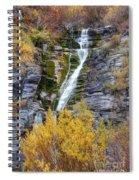 Timpanogos Waterfall In The Fall - Utah Spiral Notebook
