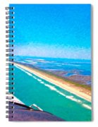 Tiny Airplane Big View II Spiral Notebook
