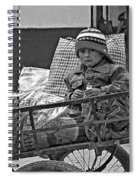 Tiny Biker 2 Monochrome Spiral Notebook