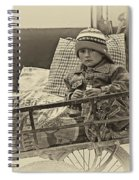 Tiny Biker 2 Sepia Spiral Notebook