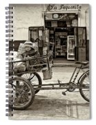 Tiny Biker Sepia Spiral Notebook