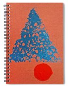 Tipi With Fire Detail Spiral Notebook